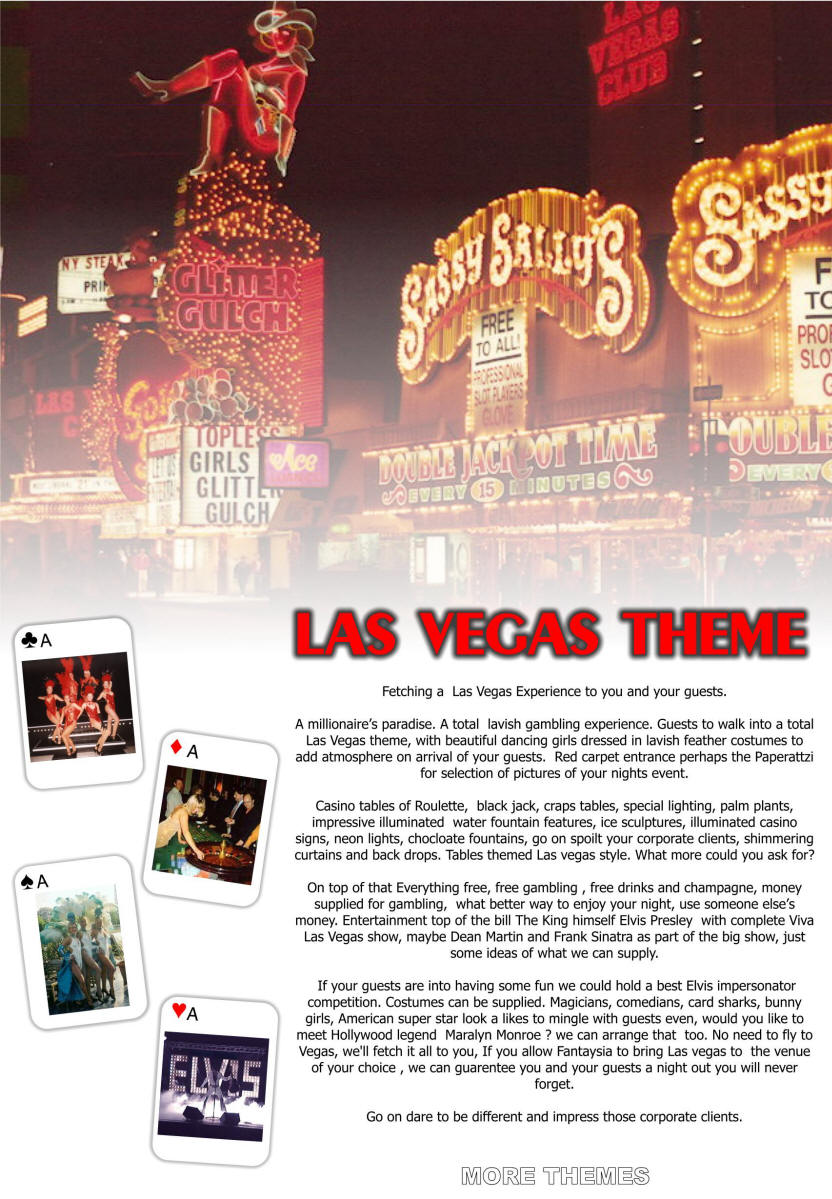 themed events and parties, themed nights, themed weddings, corporate ...